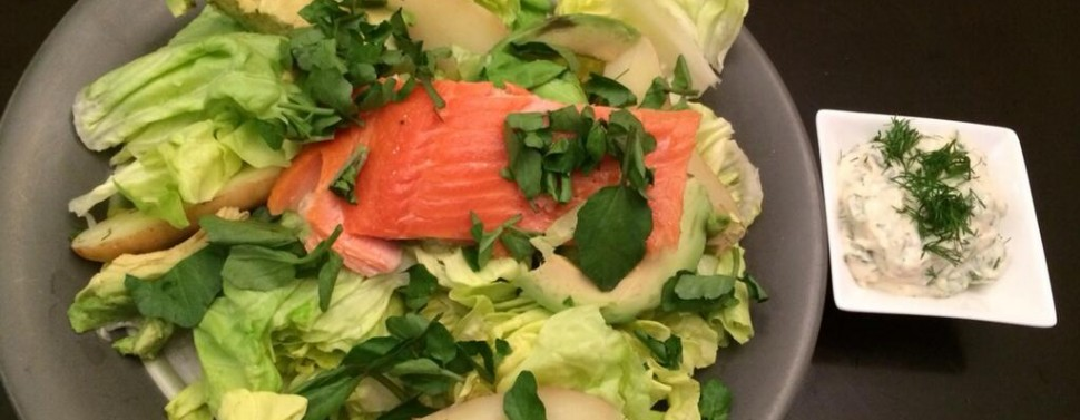 Smoked Trout and Butter Lettuce Salad with Avocado - Abby ...