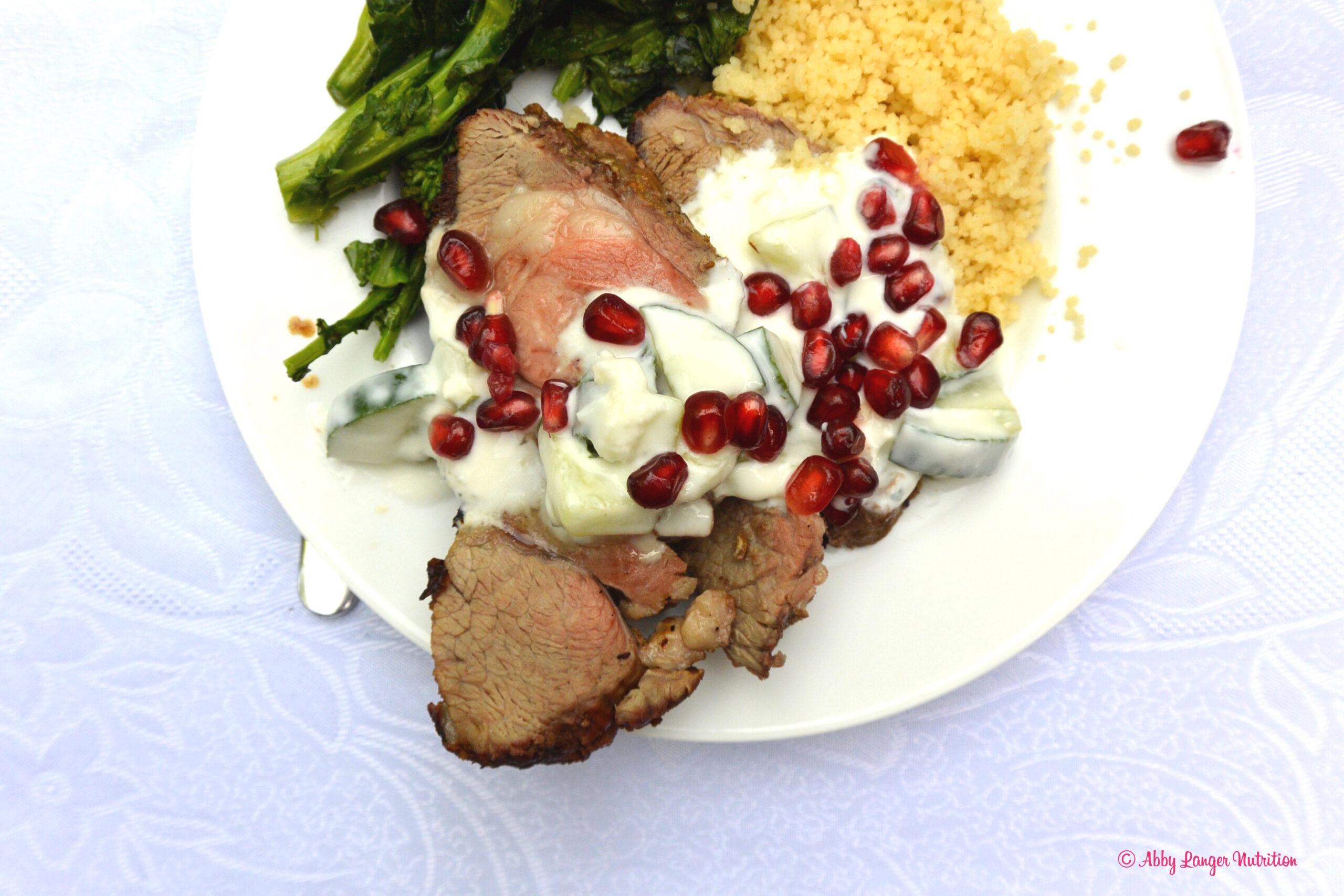 ... Sponsored Post) Recipe - BBQ Lamb with Yogurt Mint Sauce - Abby Langer