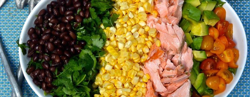 Corn salad close up