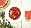 (Vegan, Gluten Free) Pan Fried Tofu with Asian Watermelon Cranberry Sauce