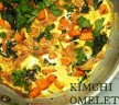 Kimchi Omelette with Kale and Sweet Potato