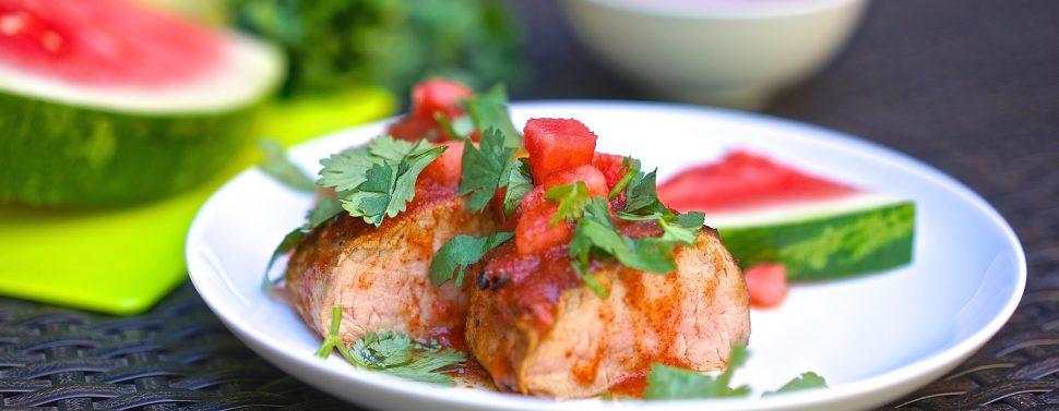 Pork Loin with Watermelon Glaze1
