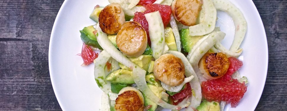 Seared Scallops with Fennel Salad2