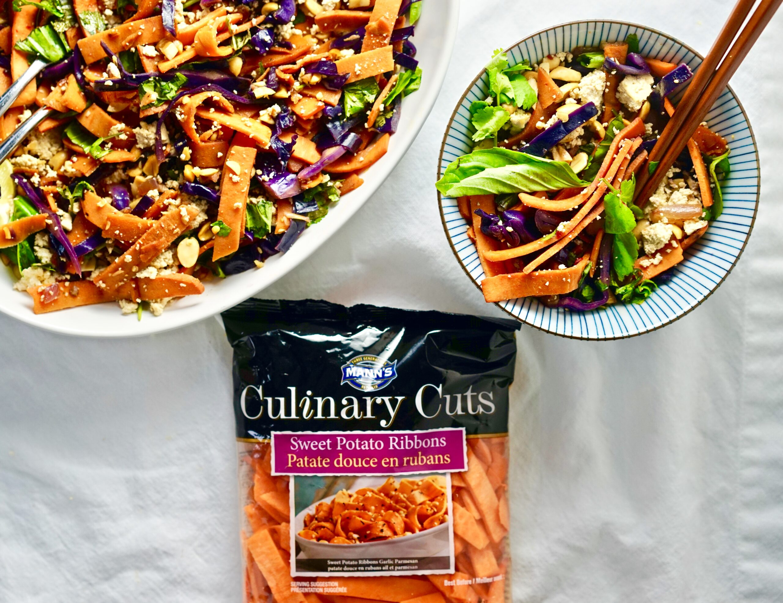 Sweet potato pad thai recipe fun shapes that can replace a lot of the refined carbs in your diet and they can be steamed in a few minutes right in the bag theyre packed in easy forumfinder Image collections