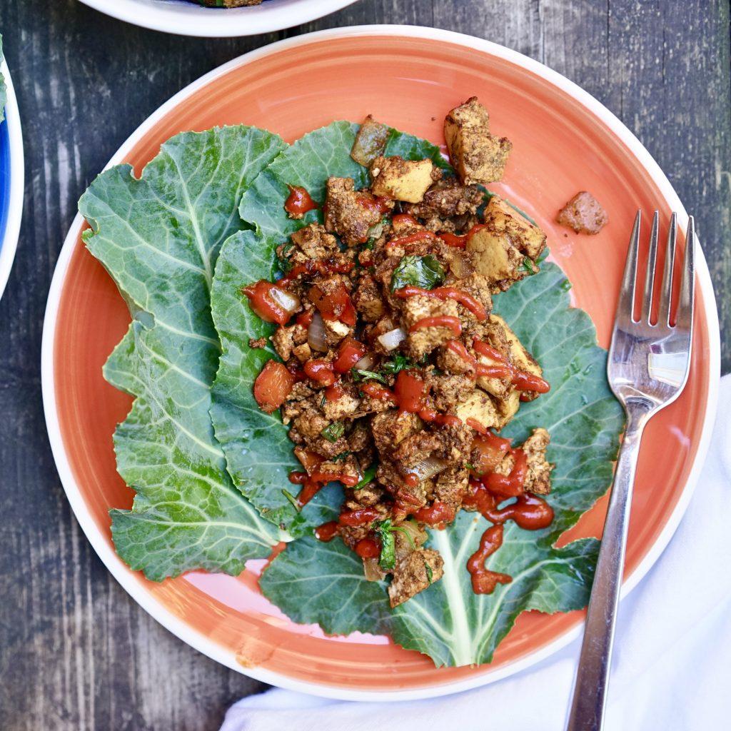Crisp and Fresh Asian Style Hoisin Tofu Lettuce Wraps